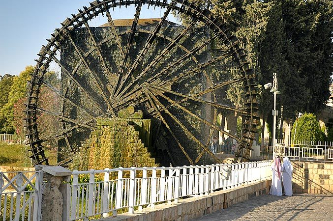 Hama was the site of a horrific massacre in 1982 which history has fogotten.  But it's famous for these roman water wheels.