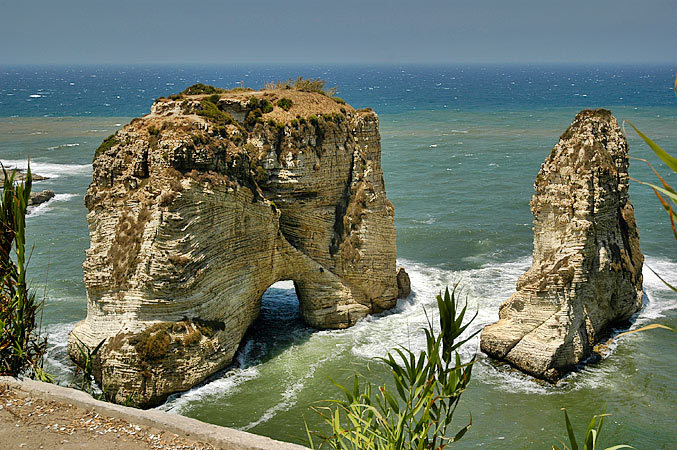 Pigeon rocks - the one real bit of natural scenery in central Beirut.