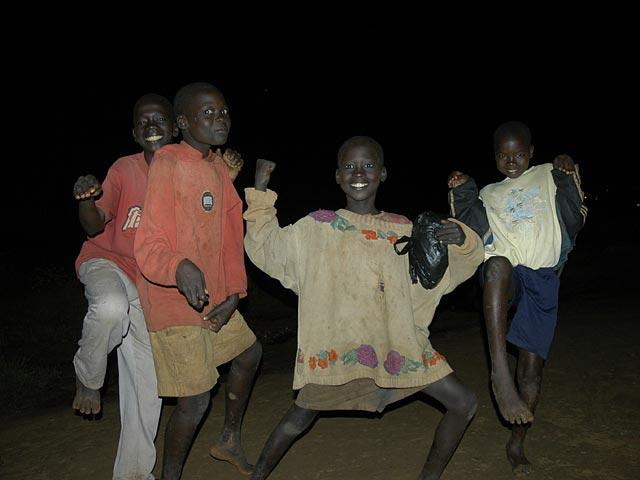 Night Commuters in Gulu - The kids are forced to flee their homes every night for fear of being kidnapped by the Lord's Resistance Army.  But for the camera, they have huge smiles and Kung-Fu moves.