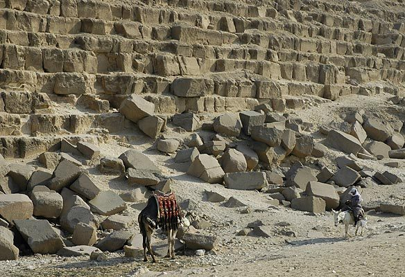 Base of the Great Pyramid.